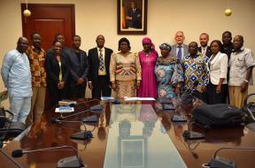 Vue densemble avec le ministre de la fonction publique et des affaires sociales